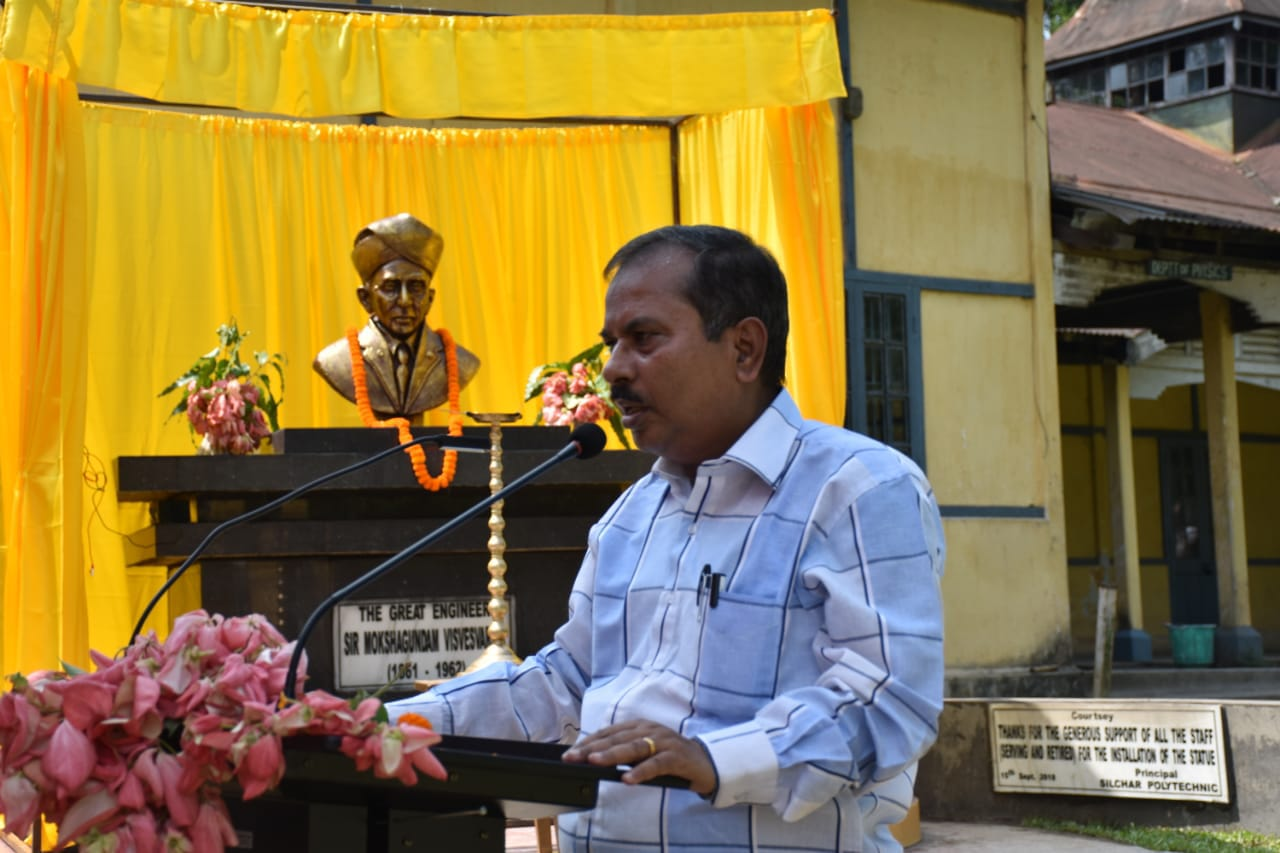 Delivering Speech during Engineer's Day by A Deb Roy, Principal